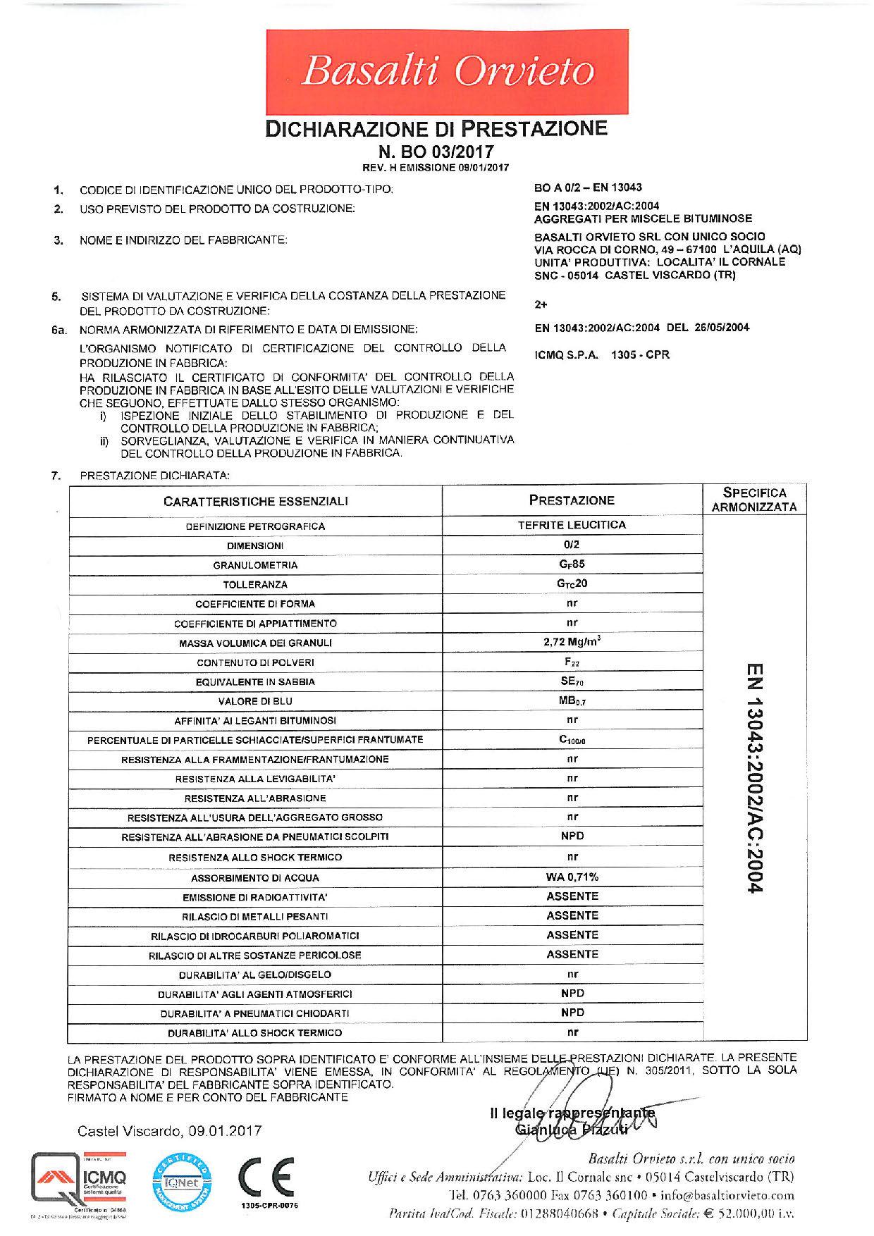 Asfalto_DoP 0-2 - EN 13043