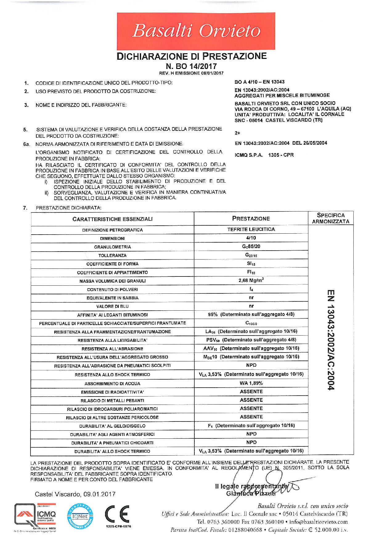 Asfalto_DoP 4-10 - EN 13043
