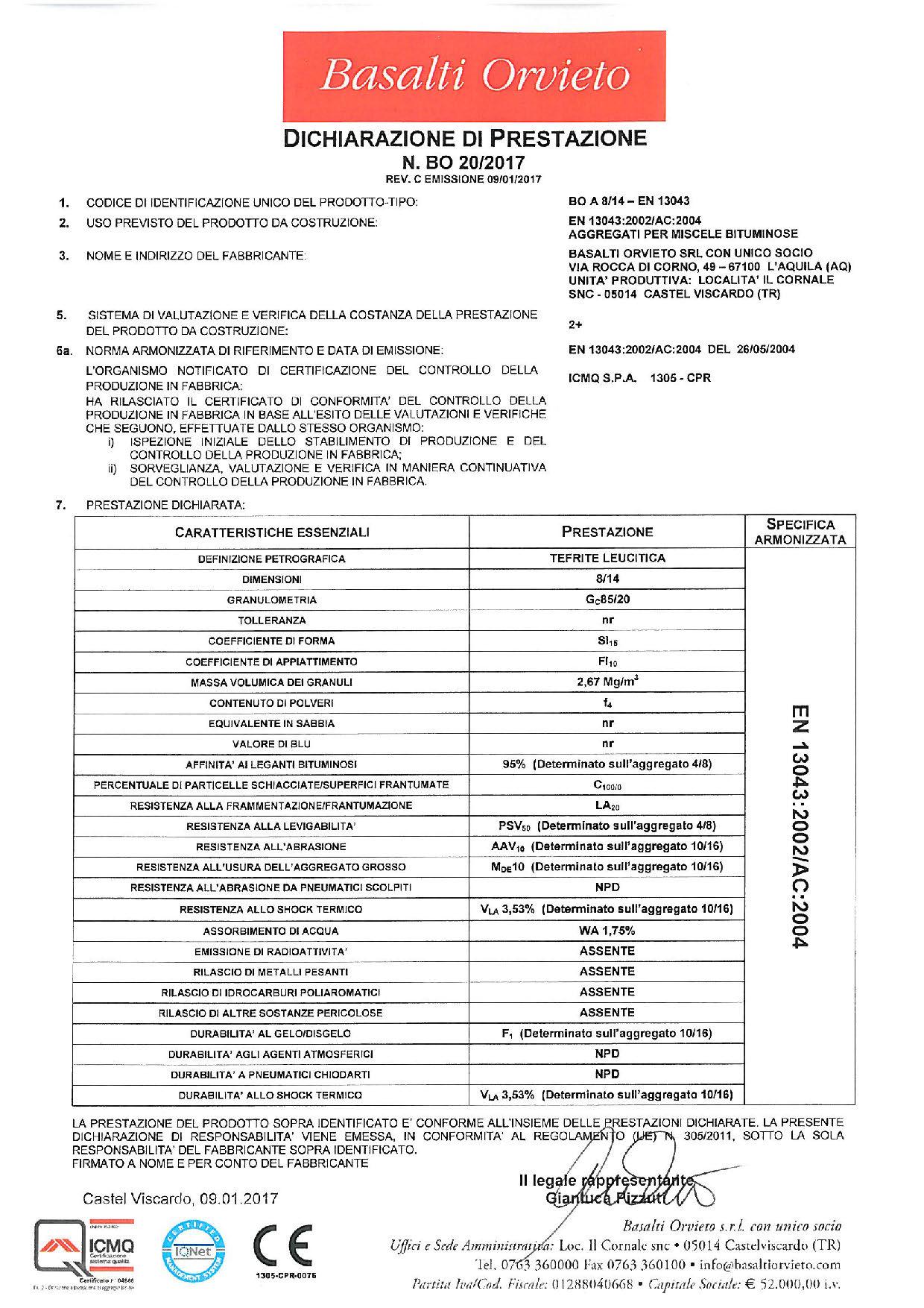 Asfalto_DoP 8-14 - EN 13043