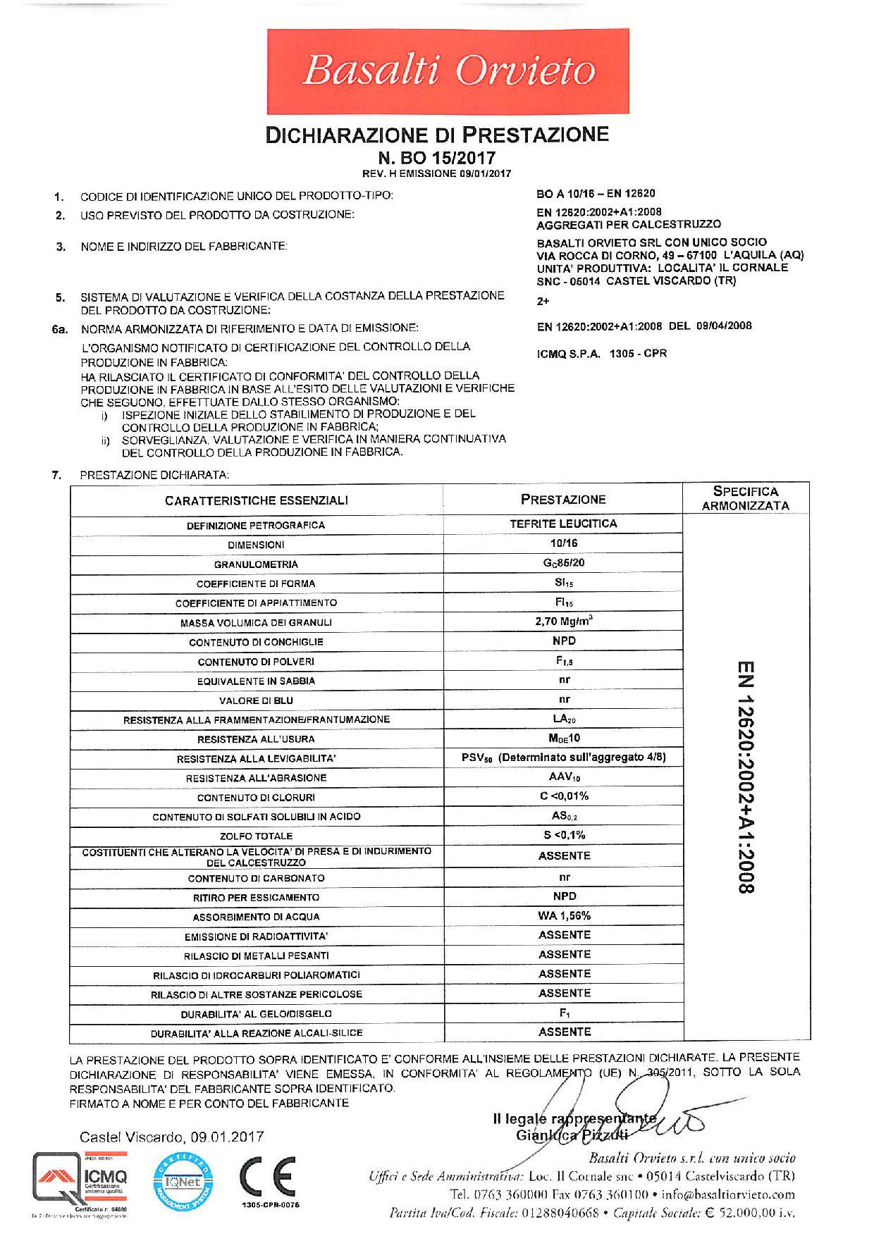 Calcestruzzo_DoP 10-16 - EN 12620