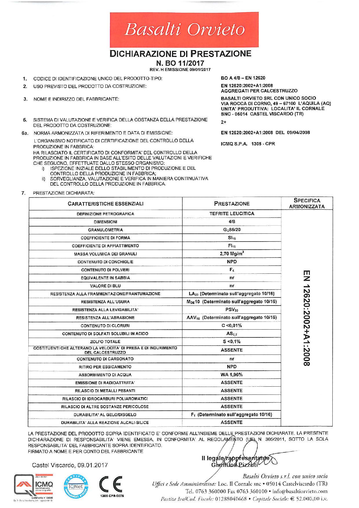 Calcestruzzo_DoP 4-8 - EN 12620