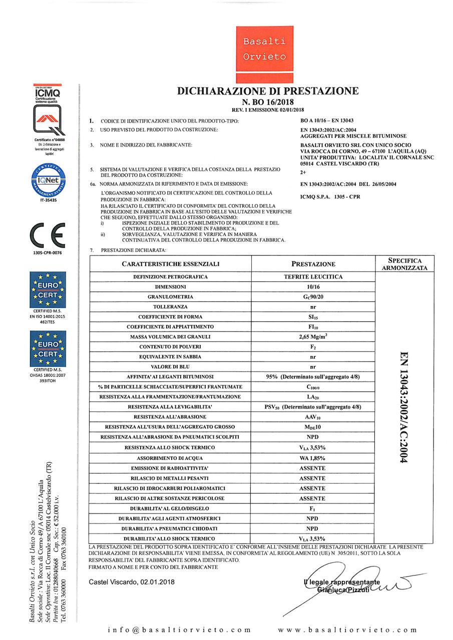 DoP 10-16 - EN 13043